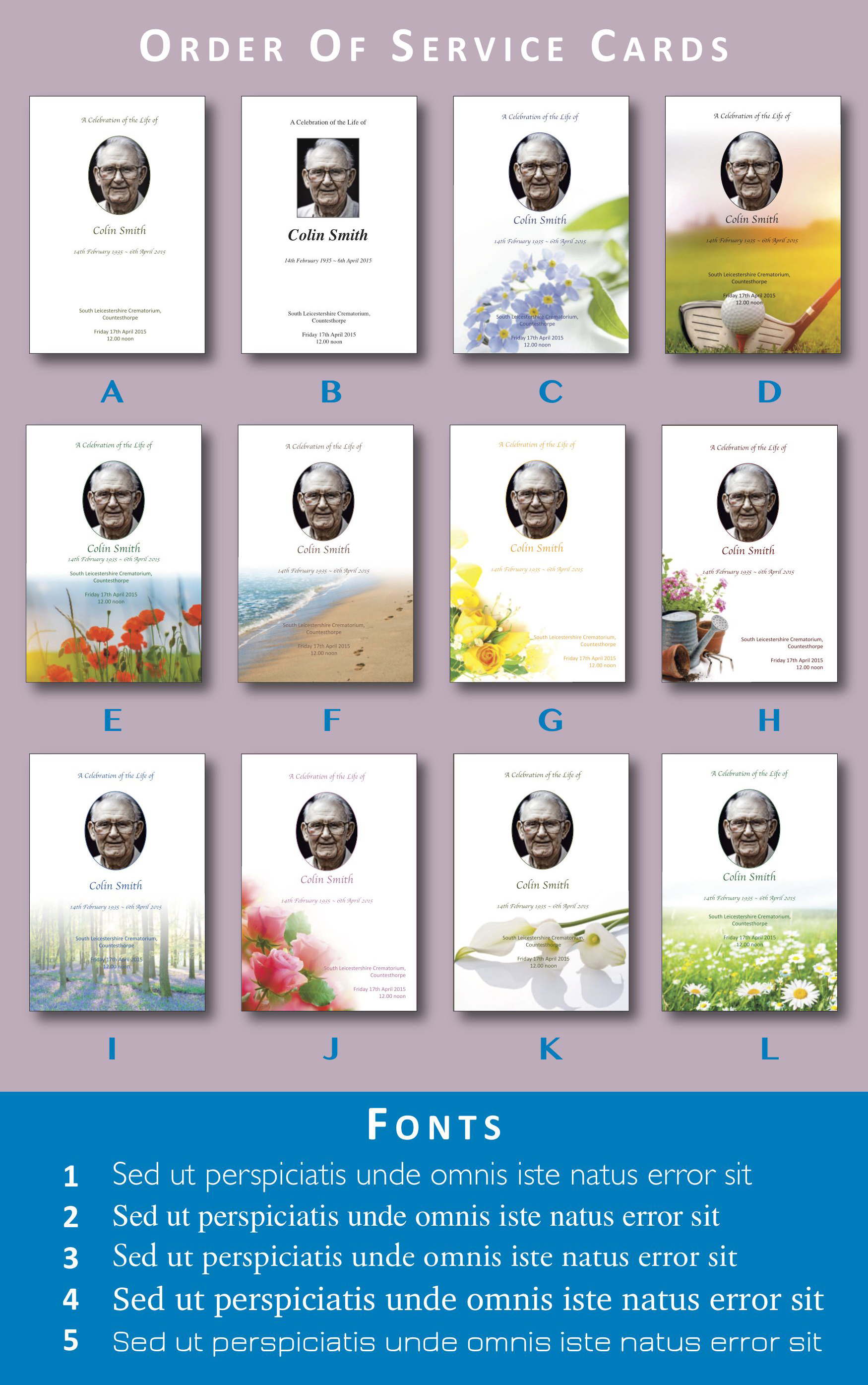 Funeral Card Page-Layout 1